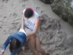 flagra de sexo na praia